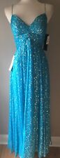 Women's AIDEN MATTOX Turquoise Formal Prom Cocktail Gown Dress  NWT 395.00  Sz 8
