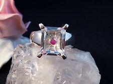 Ring  Silber 925 mit Echtem Kristal 57 Größe 18,1 mm