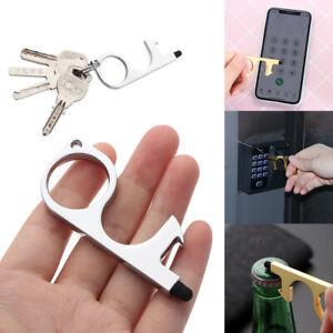 Elevator Button Opener Handle Key Stylus EDC Door Opener Keychain Non-Contact