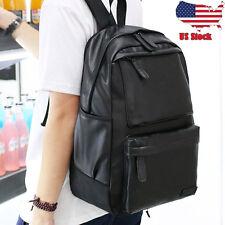 Unisex Vintage Backpack Travel Leather Handbag Rucksack Shoulder School Bag USPS