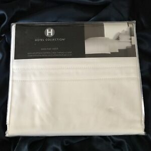 FAB! Hotel Collection White 100% Egyptian Cotton 800th.c King Flat Sheet $250.00
