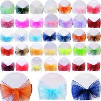 100 ORGANZA SASHES CHAIR COVER BOW SASH WIDER SASHES FOR A FULLER BOW UK SELLER
