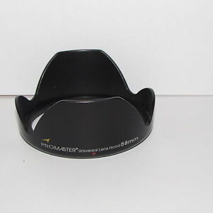 Used Promaster Universal 58 mm Lens Hood Made in Japan S112053