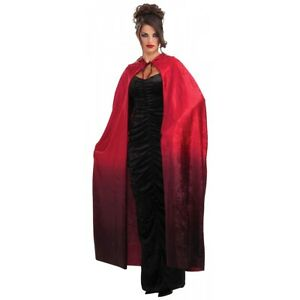 """56"""" Red Faded Cape Costume Adult Halloween"""