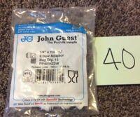 John Guest PP 480822W rigid elbow - NPTF thread 1/4 tube 1/4 thread (bags of 10)