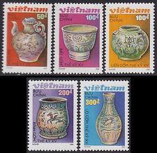VIETNAM N°982/983** ART POTERIES, 1989 Vietnam 1988-1992 Ceramics MNH