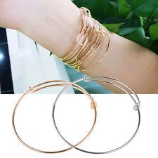 10PCS Moda Pulsera Ajustable Extensible Metal Alambre Brazalete Joyería para Mujer