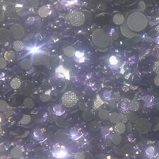 Assortiment strass couleur VIOLET  en verre hotfix s06 + s10 + s16 + s20 n°(117)
