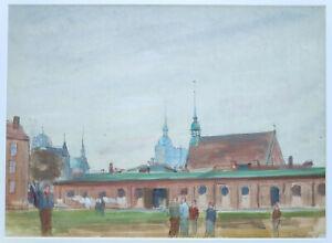 """Kliefert, Erich(1893 Berlin–1994 Stralsund)""""Stralsund–Partie am Heilgeistkloster"""