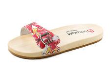 Berkemann Damen Holz Clogs Pantoletten Sandalen Rot Weiß Gr. 40
