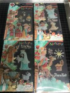 New Craft Consortium rubber Stamp ALL 4 SETS NATIVITY Christmas Winter RELIGIOUS