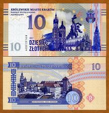 Poland, Krakow, 10 Zlotych, Private Issue, Specimen, Essay, 2017, UNC