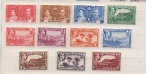 A very nice unused Montserrat George VI group