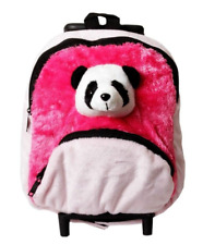 Wild Republic Poly Trolley Bag Panda - Pink