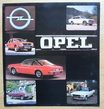 OPEL RANGE 1975 UK Mkt Sales Brochure - Kadett Ascona Manta Rekord Commodore