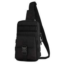 Men's Nylon Tactical Travel Hiking Shoulder Messenger Sling Pack Chest Bag Pouch