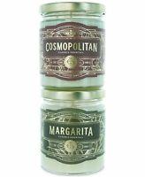 REWINED 2Pc Margarita & Cosmopolitan Candle Gift Set Agave Citrus Orange Soy Wax