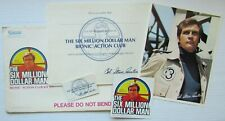 Vintage Kenner Six Million Dollar Man Bionic Action Fan Club Kit: Complete!