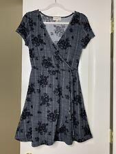 Derek Heart Wrap Floral Dress L Size Short Sleeve Elastic Waist