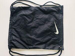 Nike Football drawstring Bag Backpack Gym Football Boots - NEW Black / White