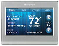 Honeywell Wi-fi Smart Touchscreen Thermostat Silver Rth9580wf Works with Alexa