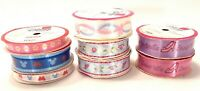 8 Assorted Rolls Disney Home Ribbon Princess & Mickey Collections Wrights Spools