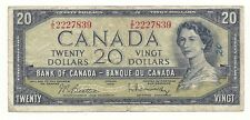 1954 CANADA TWENTY DOLLAR BANK NOTE