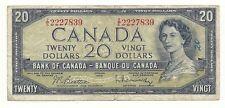 1954 MODIFIED CANADA TWENTY DOLLAR BANK NOTE