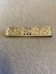 Vintage Antique ? Sterling Silver 950 Engraved Money Clip