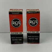 Vintage GE RCA 6SK7 Electronic RADIO VACUUM TUBES In Untested Condition