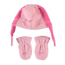 dd0c7f83d4331 NIKE ensemble bonnet + gants moufles bébé rose taille 12 / 24 mois