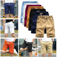 Mens Shorts Sports Casual Elasticated Trousers Military Cargo Summer Half  Pants
