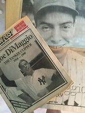 NY Yankees Joe DiMaggio Death 2 Newspapers - Journal News & New York Post