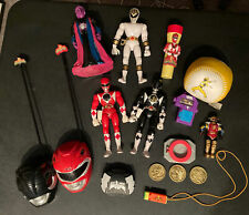 Lot Of Power Rangers Collectibles Early 90s Rare Red Black Ranger Vintage Toys