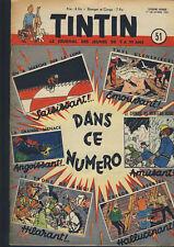 TINTIN    n°  51     du    17  décembre   1952