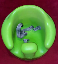 Bumbo Infant Chair Booster Seat W/ Safety Restraints Lime Green Molded Foam