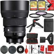Sigma 85mm f/1.4 Dg Dn Art Lens for Sony E-Mount + 128Gb 18Pc Bundle