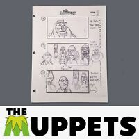 THE MUPPETS - Production Used Storyboard - Bunsen, Floyd, Dr. Teeth