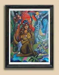 Taino Art Puerto Rico wall art Puerto Rican Tain, Wall Hang Art, Home Decor Gift