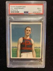1910 T218 Champions, J. L.Hartranft PSA 5.5, University of Pennsylvania, Hurdler