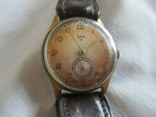 Men's Oris 13 Watch Vintage Worn Gold Plated Working Wind up Swiss Made