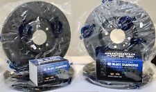 Brake Discs Drilled Grooved Black Diamond pads Audi S3 06- front + rear upgrade