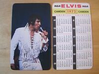 1972 Elvis Presley Wallet Calendar Near Mint/Mint Cond.