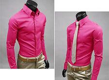 Elegante Hombre Vestido de manga corta camisas Casual Formal Slim Trabajo Suéter