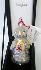 "Christopher Radko Xmas Ornament 1993 A Shy Rabbit'S Heart Aids Awareness 3.5"""