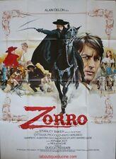 ZORRO Affiche Cinéma ORIGINALE / Movie Poster ALAIN DELON 1975