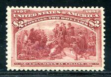 USA 1893 85 * 2$ COLUMBUS sehr schön gering hell  2800€(E1434