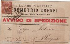 #MILANO: testatina- DEMETRIO CRESPI- lavori in metallo