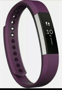 New Fitbit Alta Fitness Activity Tracker. Plum and silver, small