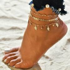 Rose Gold Butterfly Bells Pendant Chain Anklets Bracelet Foot Ankle Jewelry Gift